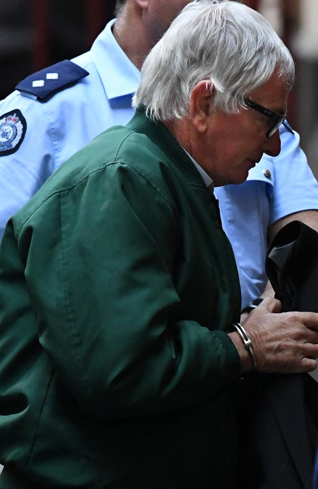 John Spencer White was taken into the Supreme Court of Victoria in Melbourne, yesterday. Picture: AAP/Julian Smith