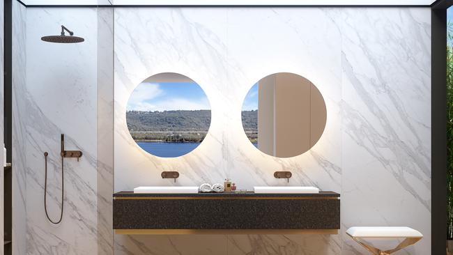 Computer Generated Image of the bathroom at one of the new apartments.