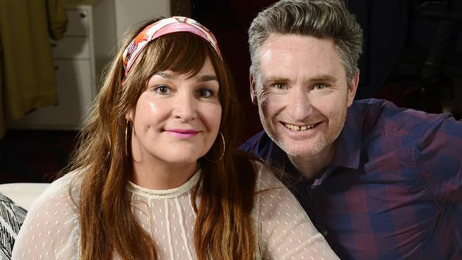 Kate Langbroek and Dave Hughes will replace Hamish and Andy on the Hit Network. Picture: Stephen Harman