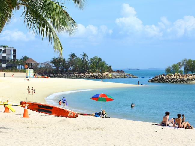 A picture-perfect coastal scene on Sentosa Island, off Singapore.