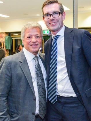 Mr Merhi with NSW Treasurer Dominic Perrottet.