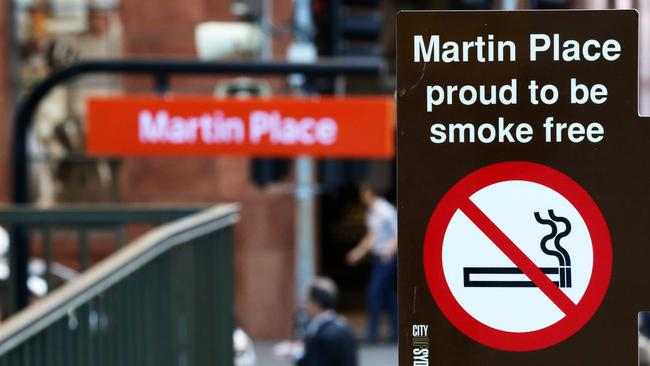 Martin Place has become smoke free in May. Picture Craig Greenhill