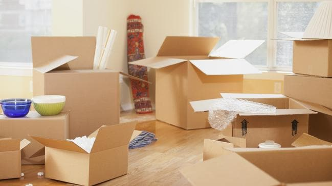 Organise a removalist and make sure you have enough boxes and packing tape for your move. Picture: iStock