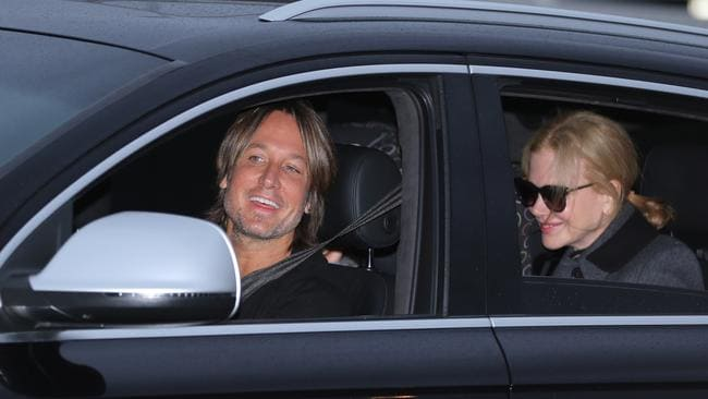 Nicole Kidman, Keith Urban and the kids arrive in Sydney. Pic: John Grainger