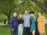 Rod French, Denika French, Stacie French, Jacob walsh and Debbie French at the UTAS Graduation at Launceston. PICTURE CHRIS KIDD