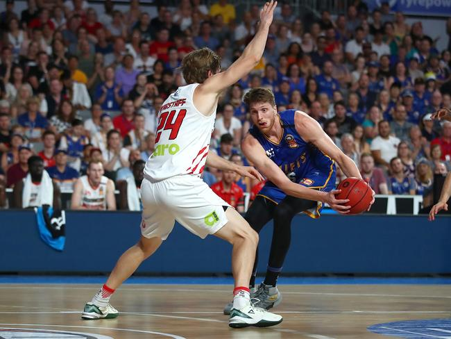 Brisbane centre Matt Hodgson drained 17 points for the Bullets. Picture: Jono Searle/Getty Images