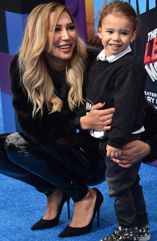 Naya and her son Josey. Picture: Getty.