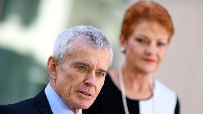 Malcolm Roberts will run for a state seat with the support of One Nation leader Pauline Hanson. Picture: AAP Image/Lukas Coch