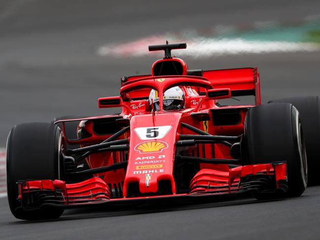 Sebastian Vettel tore up the track in Catalunya.