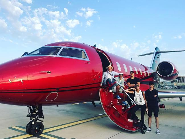 Hamilton already lives the high life, yes that's his jet.