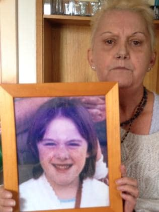 Kylie Maybury's mum Julie with a photo of her daughter.