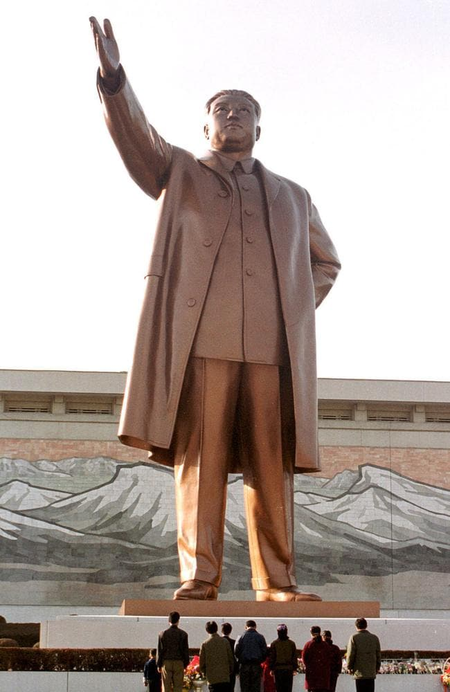 Statue of former leader Kim Il-sung in Pyongyang, North Korea. Picture: Lynne ODonnell.