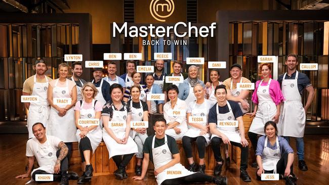 MasterChef Back To Win top 24 contestants.