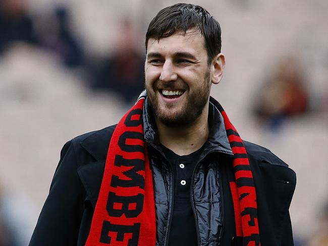 Andrew Bogut is a massive Bombers fan. Picture: Wayne Ludbey.