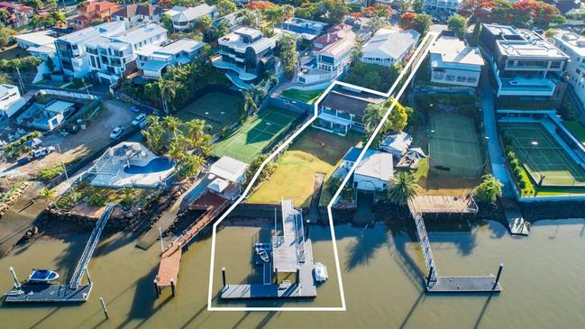 The massive property sits on a stretch of the Brisbane River that has some of the best homes in the city, including that of Gina Rinehart.