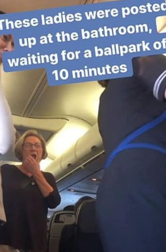 At one point, a flight attendant could be heard asking a waiting passenger, 'You're still here?' Picture: Instagram