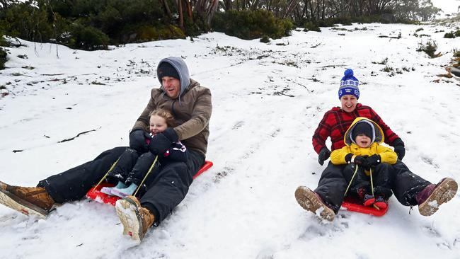 Victoria's cold front has brought healthy snowfall at Mt Baw Baw in Victoria's high country.