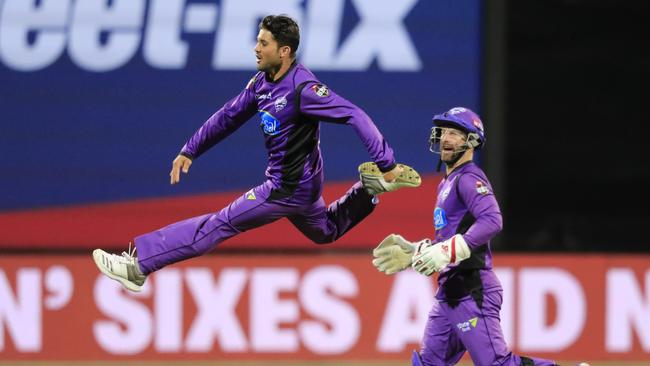 Qais Ahmad of the Hurricanes was flying at the end of the BBL|08 season
