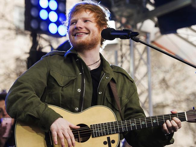 Ed Sheeran performs on NBC's Today in the US show last week. Picture: Charles Sykes/Invision/AP