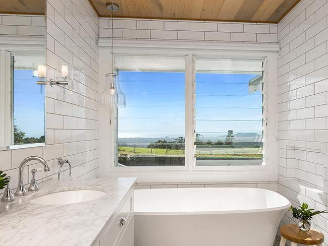 There is even a view from the bath.