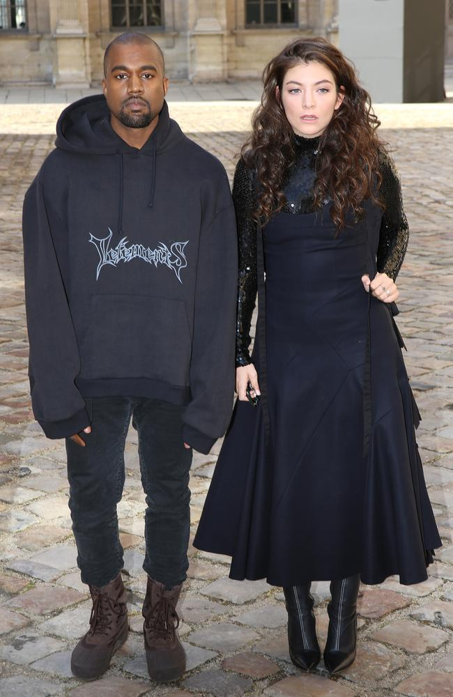 Same height, same pout: Kanye West and Lorde.