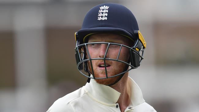 (FILES) This file photo taken on July 30, 2017 shows England's Ben Stokes leaves the field after being bowled by South Africa's Chris Morris for 31 on the fourth day of the third Test match between England and South Africa at The Oval cricket ground in London England have dropped Ben Stokes and Alex Hales from their side to play West Indies in the fourth one-day international at The Oval on September 27, the England and Wales Cricket Board announced September 26, 2017. / AFP PHOTO / Glyn KIRK / RESTRICTED TO EDITORIAL USE. NO ASSOCIATION WITH DIRECT COMPETITOR OF SPONSOR, PARTNER, OR SUPPLIER OF THE ECB