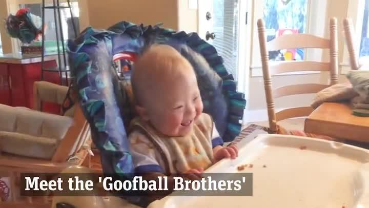The 'Goofball Brothers' - incredibly rare TWINS with Down syndrome