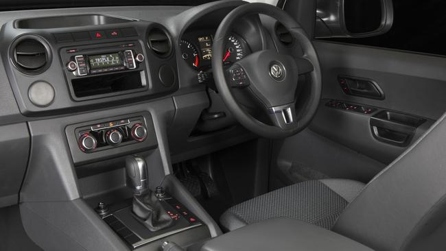 The Amarok's interior was one of its strong points.