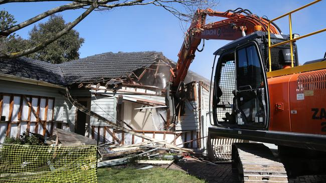 The Forest Hill home being demolished this week. Picture: David Caird