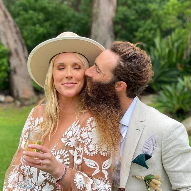 Scott Maggs and Emma Metcalf's wedding was hit with more than 30 cases of coronavirus, the NSW chief health officer confirmed. Picture: Instagram