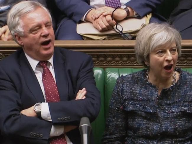 British Prime Minister Theresa May and Brexit Minister David Davis. Picture: AFP/PRU