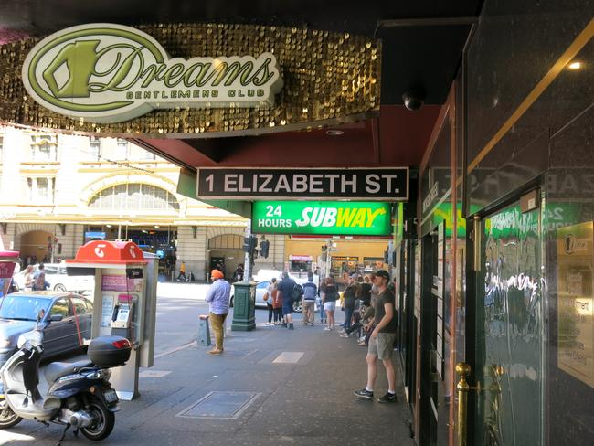 Dreams Gentlemen's Club in Melbourne's CBD where Stacey Tierney died.