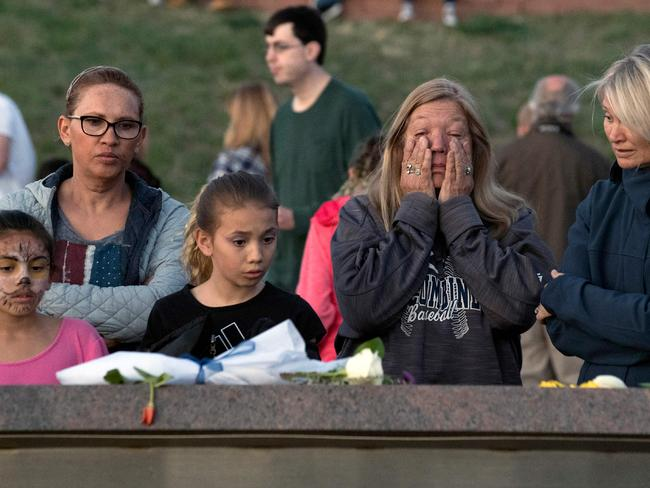 A community vigil for the 20th anniversary of the Columbine High School mass shooting on April 19, 2019. Picture: Jason Connolly/AFP