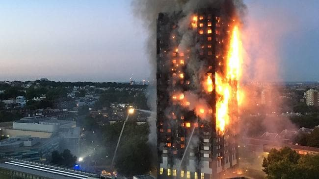 Concerns have been raised over similarities between cladding used in the Grenfell building in the UK and Australian high-rises needing retrofits. Picture: Natalie Oxford