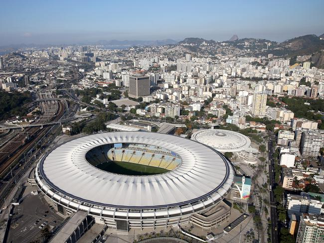 An aerial view of the Maracana Complex in Rio, which hosts the Summer Olympics next year.