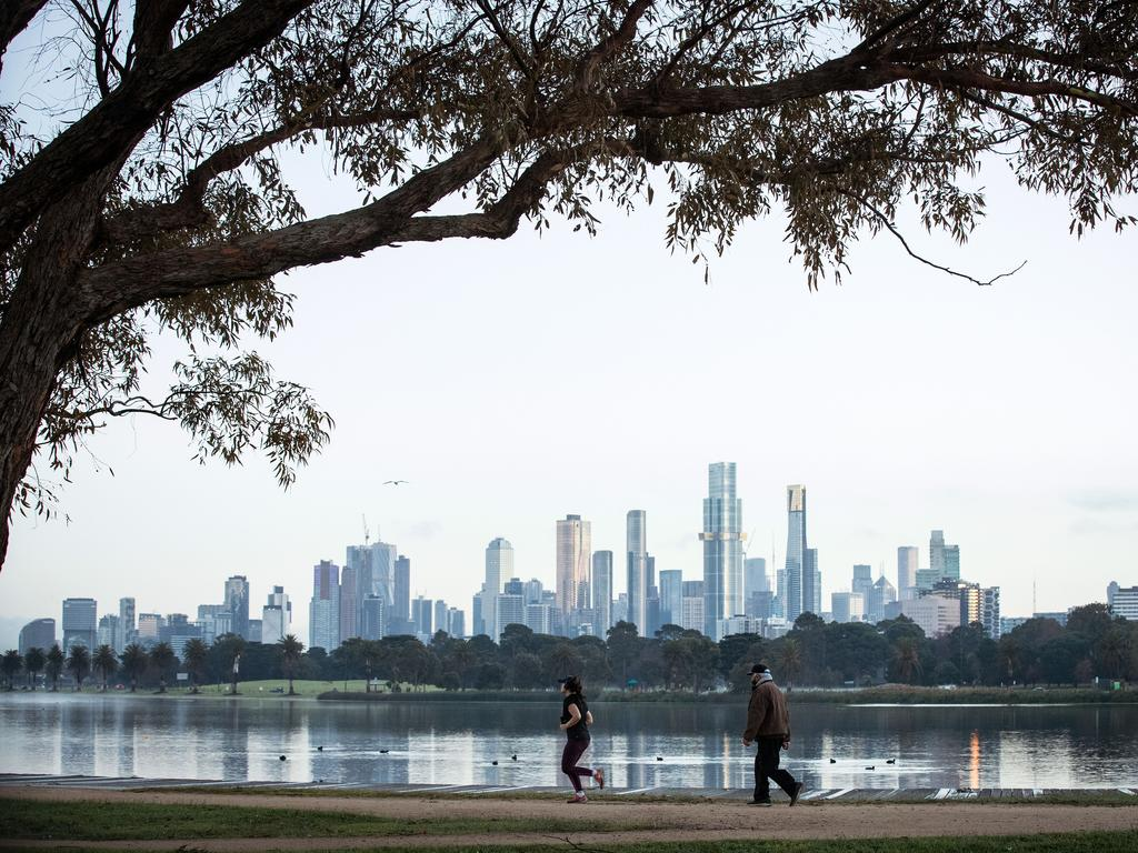 People exercising at Albert Park Lake. Picture: Getty