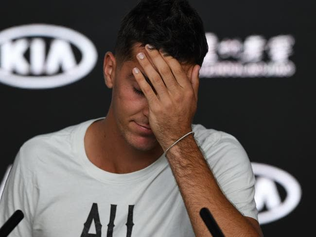 Thanasi Kokkinakis has fronted too many press conferences to talk about injuries. (AAP Image/Erik Anderson)