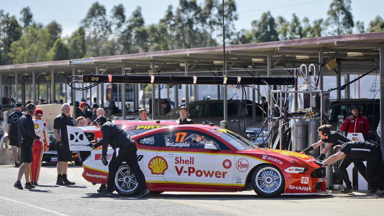 Scott McLaughlin testing at Queensland Raceway last week.