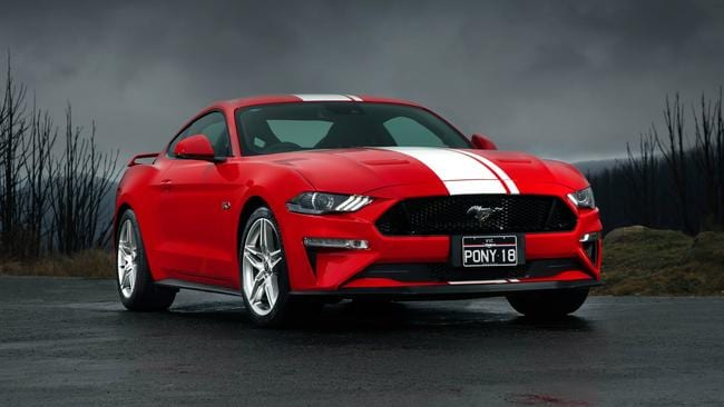 Ford has shaved a substantial amount off the Mustang's 0-100km/h time. Picture: Supplied.