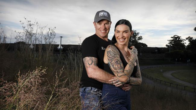 Stuart Bonds, pictured with wife Sini Ariell, took almost 22 per cent of the primary vote in Hunter. Picture: Chris Pavlich/The Australian