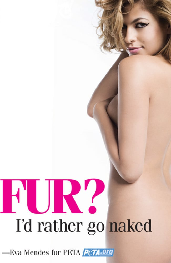 Eva Mendes also stripped off for PETA.