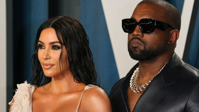 Wild cheating rumours have been rife since reports emerged that Kim and Kanye are headed for divorce. Picture: AFP.