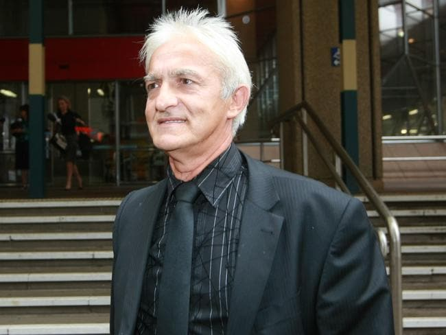 Court and some time on the run from police have delayed Dragan Vasiljkovic's extradition. Pictured (Capt. Dragan) leaves the Sydney Supreme Court after losing a defamation case against The Australian.