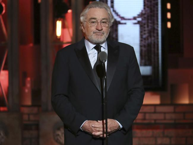 Robert De Niro rips into Donald Trump at the Tonys. Picture: Michael Zorn/Invision/AP
