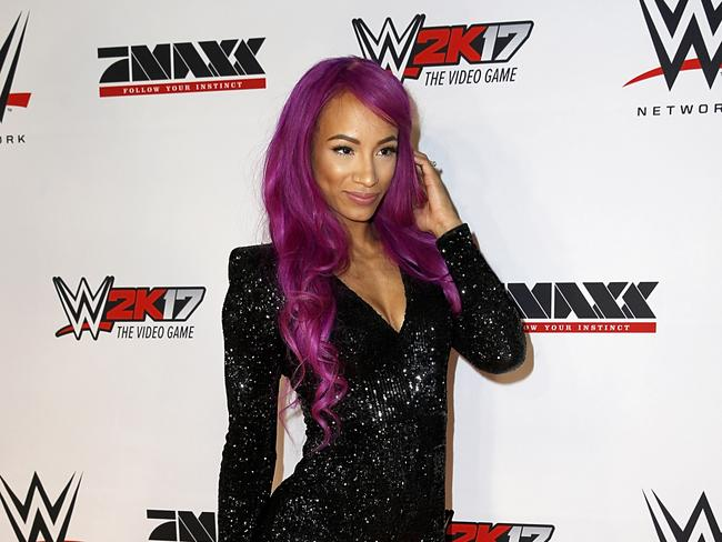 WWE Superstar Sasha Banks will enter the Elimination Chamber.