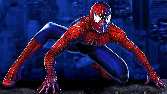 Strike a pose: the classic Marvel comic superhero Spider-Man crouches just like Spider-Lizard. Picture: Marvel/Picture Media.