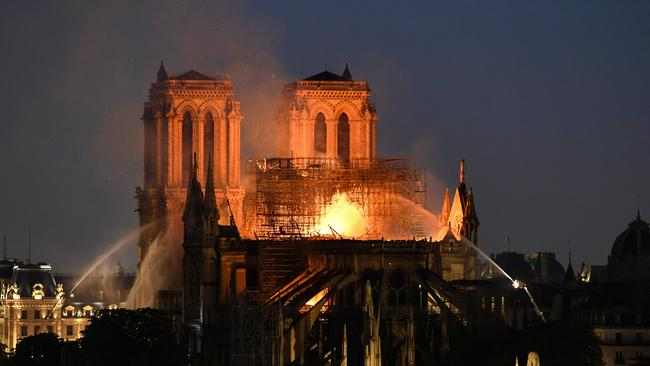 Fire tears through Paris' Notre-Dame Cathedral on April 15. Picture: Bertrand Guay / AFP