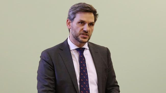 Greens MP Michael Berkman announced a bill in Queensland's parliament to implement reforms urged by the abuse royal commission. Picture: Liam Kidston.