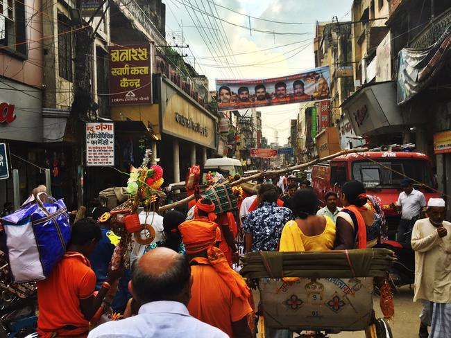 Thousands of Hindus travel to Varanasi to die, and be sent straight to heaven. Picture: Gavin Fernando