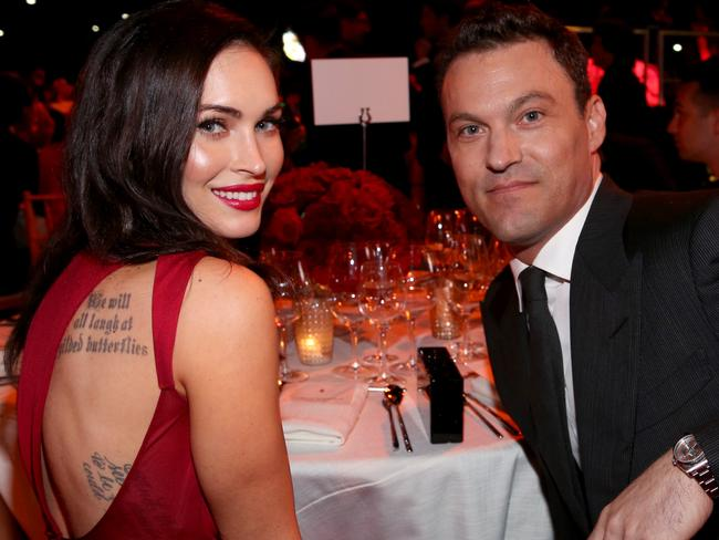 Separated ... Actors Megan Fox (L) and Brian Austin Green in October, 2014. Picture: Getty